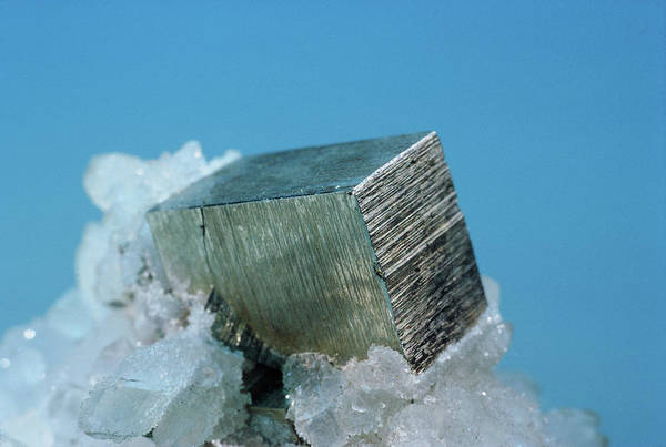 Wall Art - Photograph - Pyrite Cube by Joel E. Arem