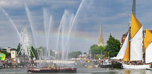 Photograph - Pyronaut Fireboat In Bristol Harbour by Colin Rayner