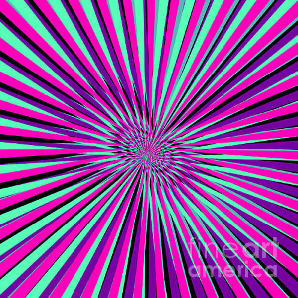 Funky Digital Art - Pyschedelic Pink & Purple Art by Christiana Mustion