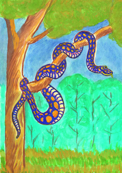 Painting - Python On A Tree by Irina Dobrotsvet