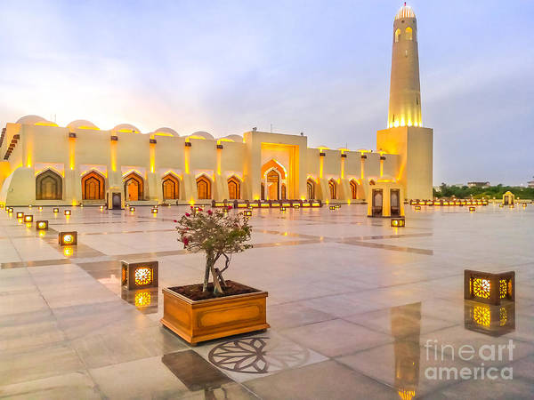 Photograph - Qatar State Mosque by Benny Marty
