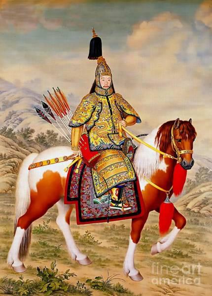 Wall Art - Painting - Qianlong Emperor China by Ian Gledhill