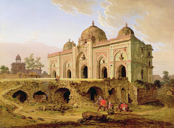 Collapse Painting - Qila-i-kuhna Mosque, Purana Qila by Robert Smith