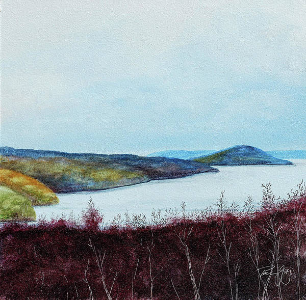 Painting - Quabbin Reservoir by Paul Gaj