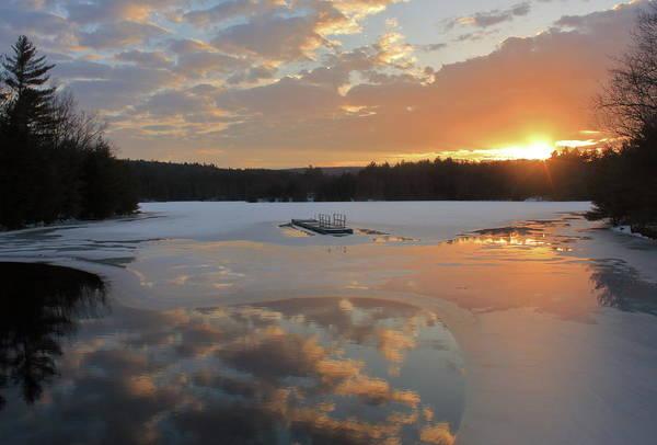 Wall Art - Photograph - Quabbin Reservoir Winter Sunset by John Burk