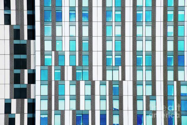 Window Pane Photograph - Quadrangles by Tim Gainey