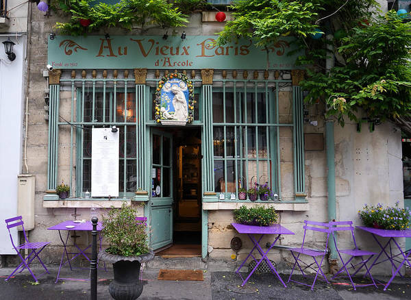 Photograph - Quaint Paris Cafe by Andrew Fare