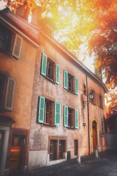 Wall Art - Photograph - Quaint Streets Of Europe Geneva Switzerland by Carol Japp