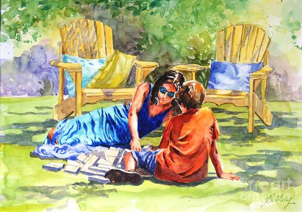 Painting - Quality Time by Betty M M Wong