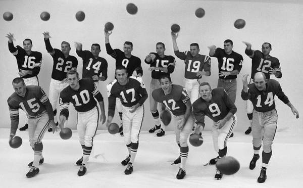 Wall Art - Photograph - Quarterbacks Of The Nfl Back, L-r Milt by Ralph Morse
