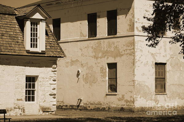 Photograph - Quarters And Hospital At Fort Stanton New Mexico In Sepia by Colleen Cornelius