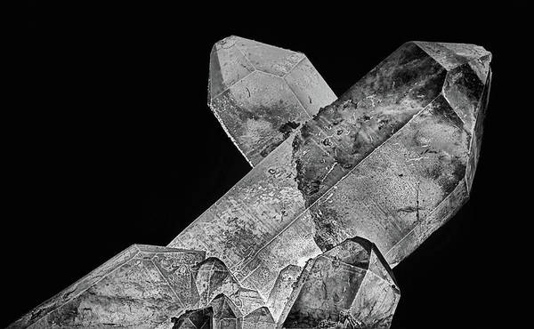 Photograph - Quartz Black And White by JC Findley