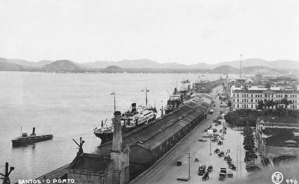 Quayside Photograph - Quayside In Santos by Hulton Archive