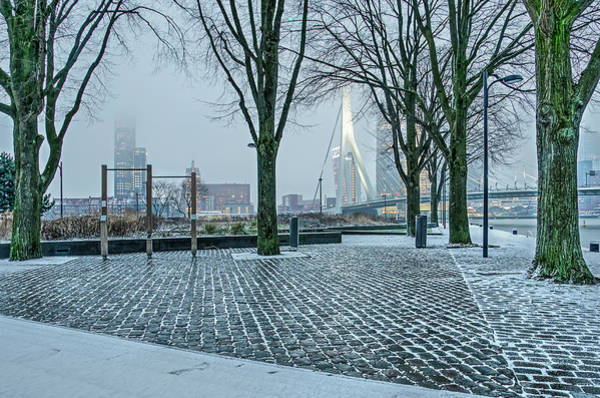 Photograph - Quayside Park On A Winter Morning by Frans Blok