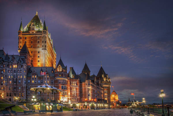 Quebec City Photograph - Quebec City, Chateau Frontenac Hotel by Buena Vista Images