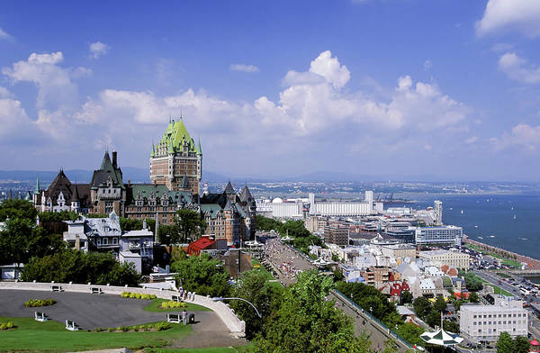 Quebec City Photograph - Quebec City Chateau Frontenac Hotel by Laughingmango