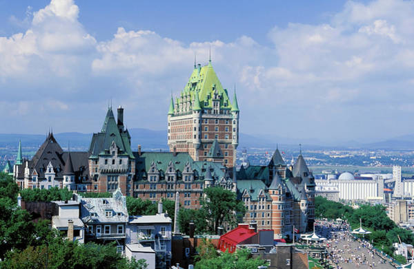Quebec City Photograph - Quebec City Chateau Frontenac by Laughingmango
