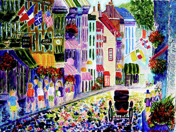 Quebec Flag Painting - Quebec City by Clement Tsang