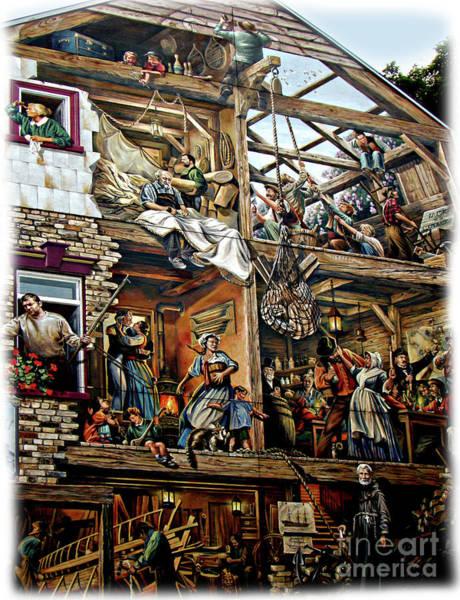 Wall Art - Photograph - Quebec City Historical Mural by Al Bourassa