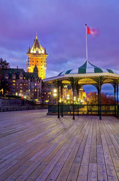 Quebec Photograph - Quebec City, Terrasse Dufferin by Alan Copson