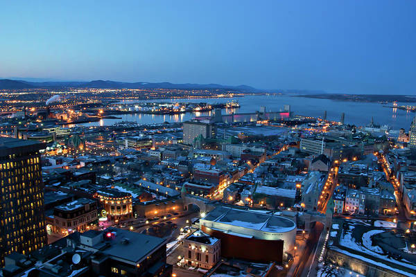 Quebec Photograph - Quebec City Waiting For Night by Guylaine Bégin