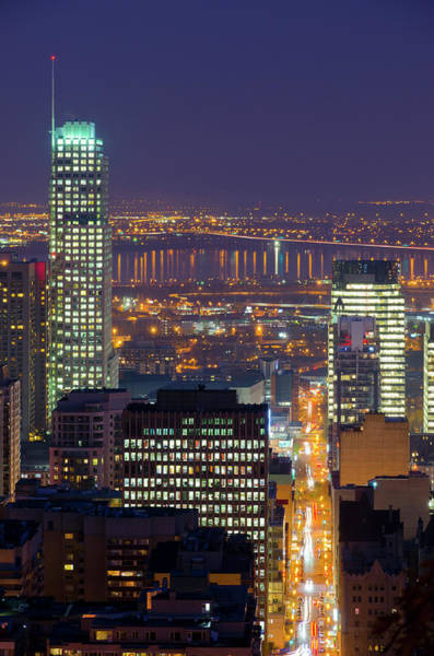 Quebec City Photograph - Quebec, Montreal. Downtown Montreal by Alan Copson