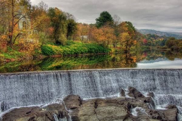 Photograph - Quechee Dam Vermont by Joann Vitali