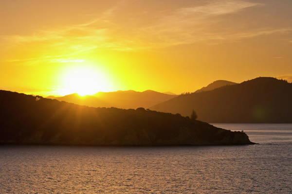 Queen Charlotte Islands Wall Art - Photograph - Queen Charlotte Sound At Sunset by Matthew Williams-ellis / Robertharding