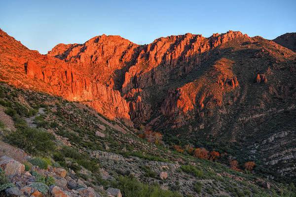 Photograph - Queen Creek Canyon Last Light  by Chance Kafka