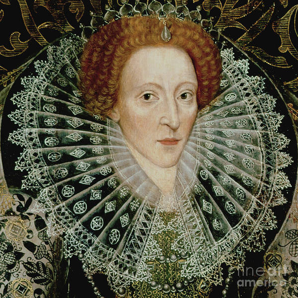 Wall Art - Painting - Queen Elizabeth I, Detail by John the Younger Bettes
