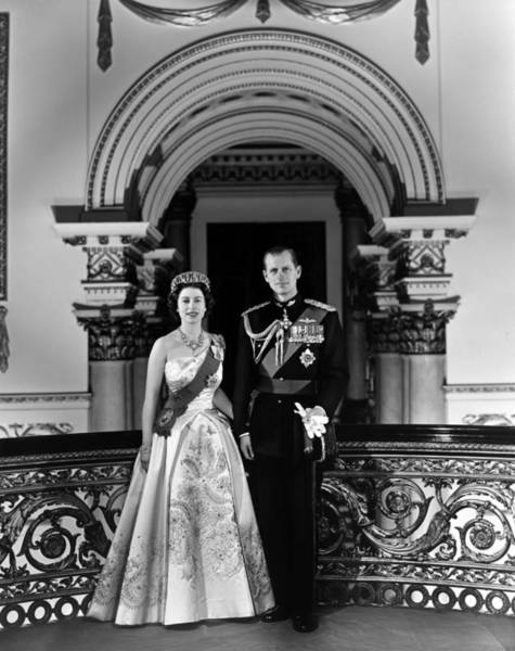 Queen Photograph - Queen Elizabeth II And Prince Philip by Michael Ochs Archives