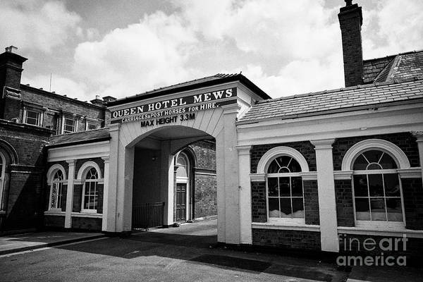 Wall Art - Photograph - Queen Hotel Mews Entrance Chester Cheshire England Uk by Joe Fox