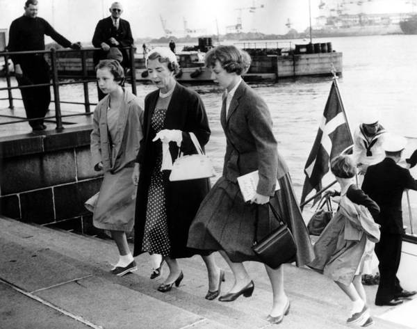 Queen Photograph - Queen Ingrid Of Denmark And Her by Keystone-france