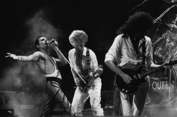 Queen Photograph - Queen Live by Express Newspapers