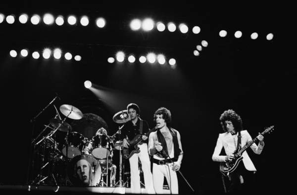 Center Stage Photograph - Queen Live In Rotterdam by Fin Costello