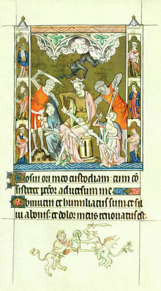 Painting - Queen Marys Psalter Slaughter Of The Innocents by Anonymous
