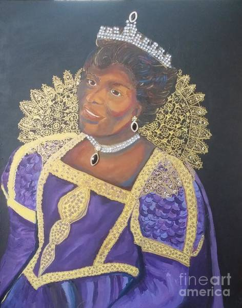 Painting - Queen Mother Glory by Jennylynd James