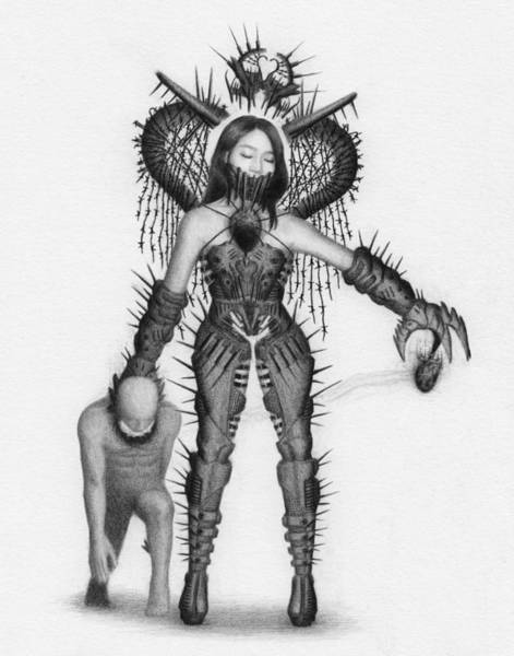 Drawing - Queen Of Hearts - Artwork by Ryan Nieves