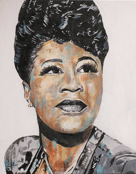 Jazz-funk Painting - Queen Of Jazz by Jesse Bastin