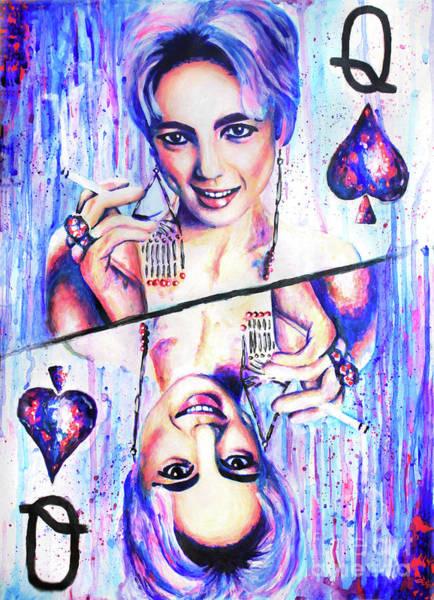 Wall Art - Painting - Queen Of Spades by Olesya Umantsiva