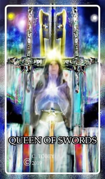 Tobey Digital Art - Queen Of Swords by Christopher Tobey