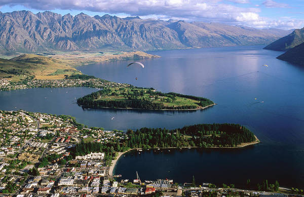 Setting Photograph - Queenstown Looking Towards The by Glenn Van Der Knijff