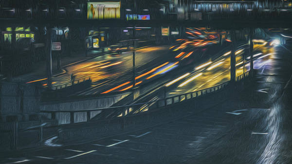 Wall Art - Photograph - Queensway At Night by Chris Fletcher
