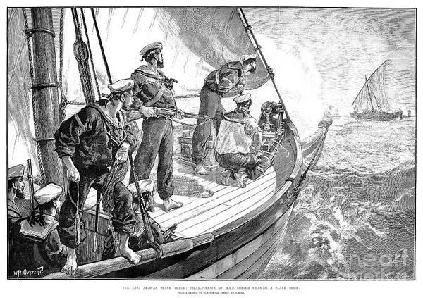 Wall Art - Drawing - Quelling The Slave Trade, 1881 by Granger
