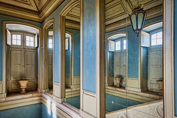 Photograph - Queluz Palace Mirrors And Door - Portugal by Stuart Litoff