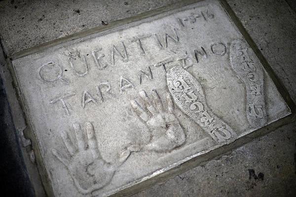 Wall Art - Photograph - Quentin Tarantino Handprints In Grauman S Chinese Theatre Hollywood Boulevard Los Angeles California by imageBROKER - Nano Calvo  VWPics