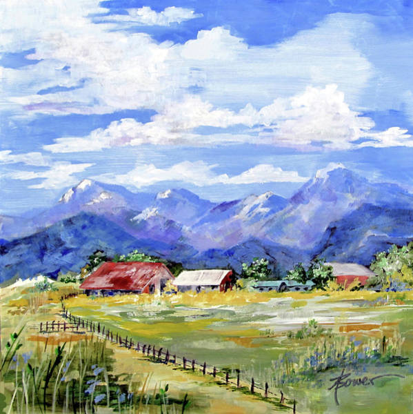 Painting - Quiet Afternoon In The Sangre De Cristos by Adele Bower