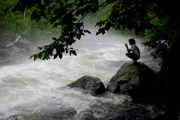 Photograph - Quiet Moment On The Deerfield River by Wayne King