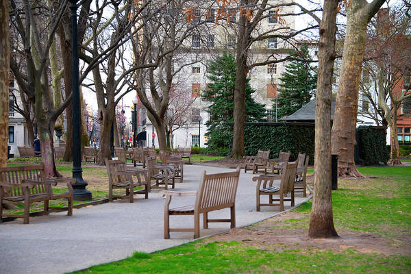 Rittenhouse Square Wall Art - Photograph - Quiet Morning In Rittenhouse Square by Bill Cannon