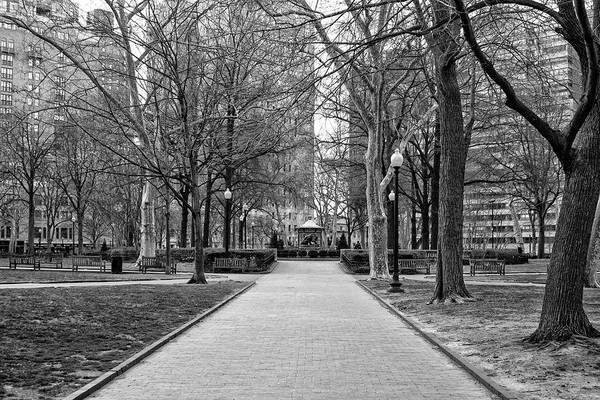 Wall Art - Photograph - Quiet Morning In Rittenhouse Square In Black And White by Bill Cannon